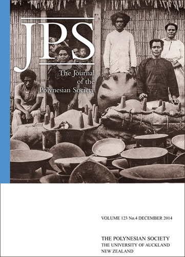 Cover for Journal of the Polynesian Society Vol. 123, No. 4